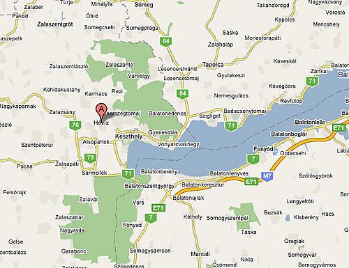 hévíz térkép Fotóalbum, Szobáink, Szolgáltatásaink, Hévíz, Térképek   Piroska